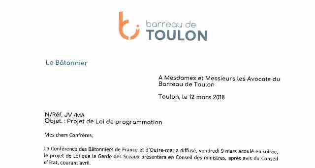 Projet De Loi De Programmation Courrier Du B 226 Tonnier Du